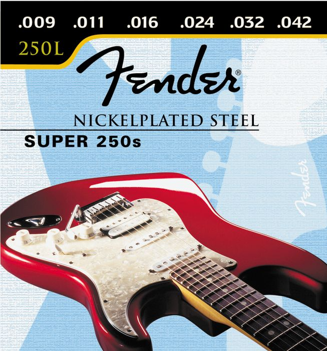 Fender Super 250L Nickel/Steel Light Ball End Electric Guitar Strings