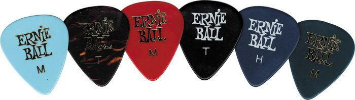 Ernie Ball Celluloid Mixed Color Guitar Pick - 2 Dozen Medium 2 Dozen