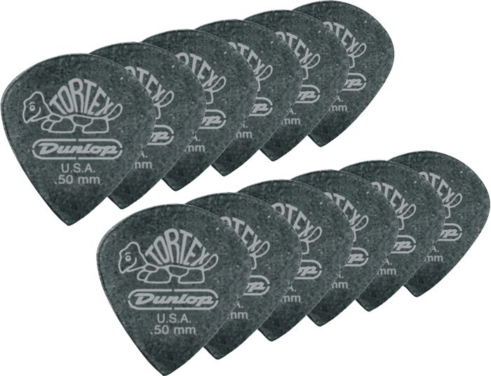 Dunlop Tortex Pitch Black Jazz Guitar Picks 1 Dozen 1.0Mm
