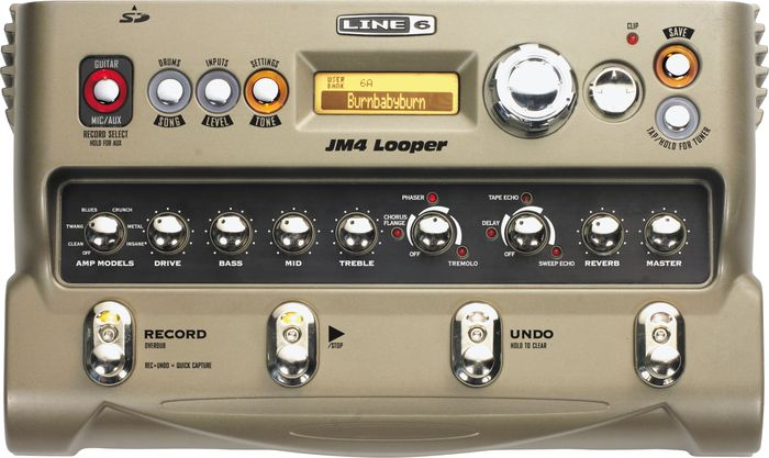 Line 6 Jm4 Looper Guitar Effects Pedal Silver