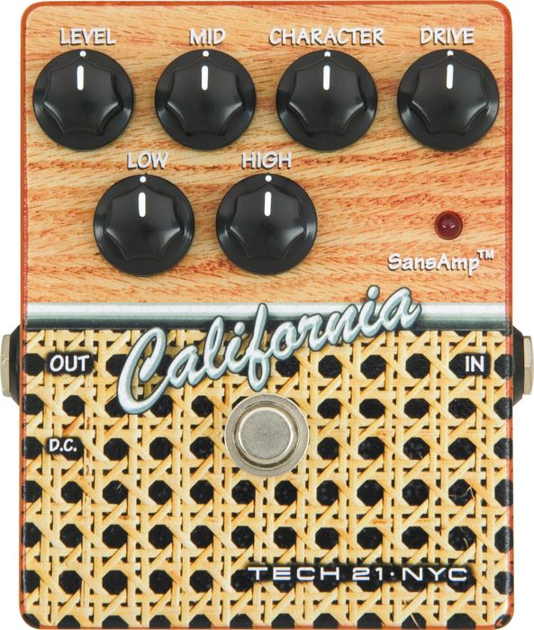 Tech 21 California SansAmp Character Series CS-CA Distortion Guitar Effects Pedal