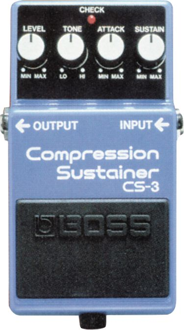 top compression pedals Boss Cs-3 Compression Sustainer Pedal