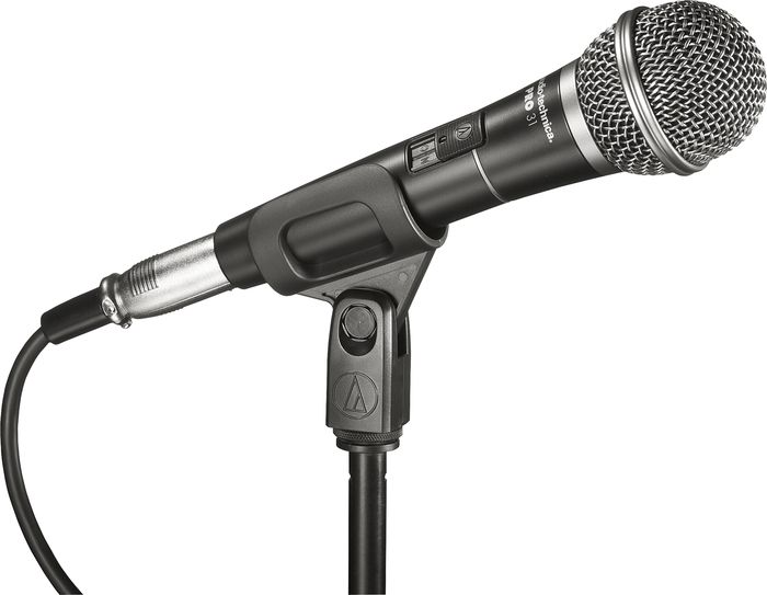 The Audio-Technica PRO 31 microphone has a cardioid polar pattern that reduces sound...