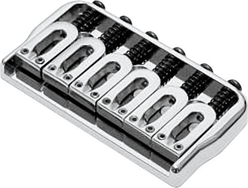 Hipshot 6-String US Fixed Guitar Bridge .125