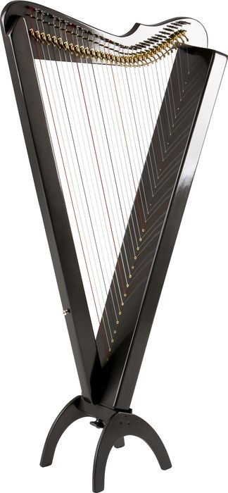 Rees Harps Grand Harpsicle Harp Metallic Black