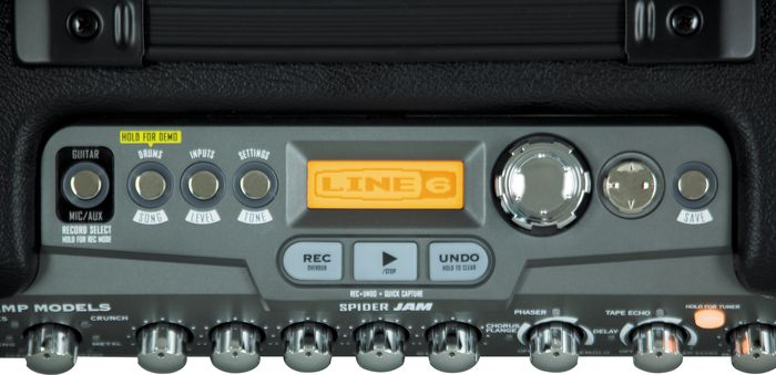 Line 6 Spider Jam Controls Close-Up