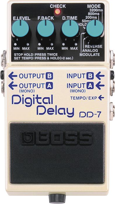 Jonny Buckland gear Boss Dd-7 Digital Delay Guitar Effects Pedal