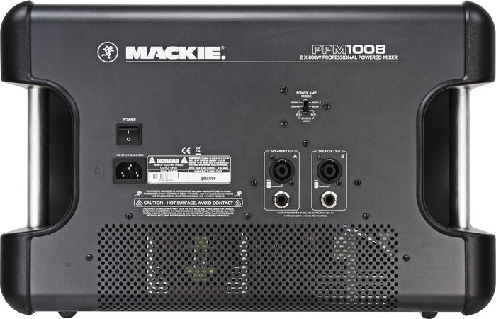 Mackie PPM1008 Rear Inputs & Outputs