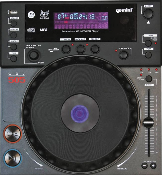 CDJ-600 Professional Tabletop CD/ MP3/ USB Player with Scratch.