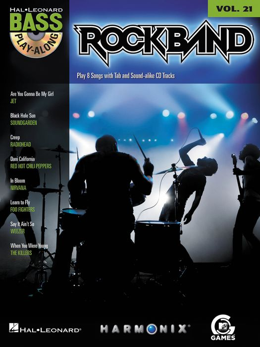 Hal Leonard ROCK BAND - BASS PLAY-ALONG (MODERN ROCK EDITION) VOLUME 21 BOOK/CD