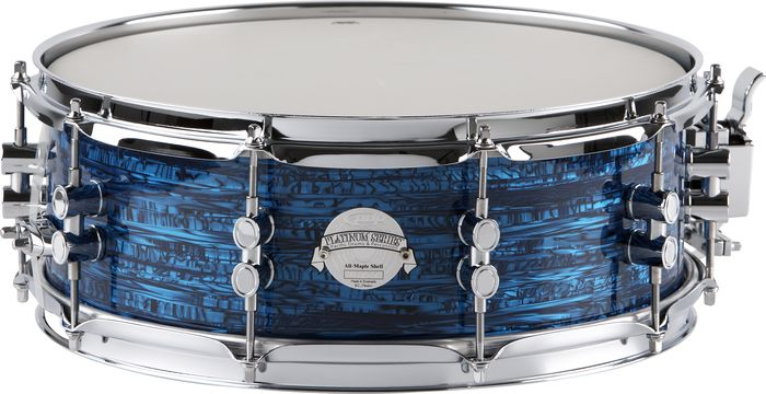 PDP Platinum Finishply Solid Maple Snare 5X14 Blue Strata