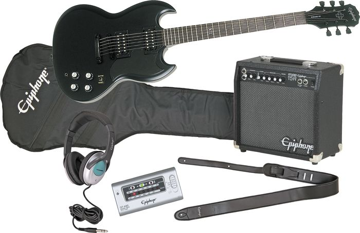 Epiphone Goth G-400 Electric Guitar And All Access Amp Pack
