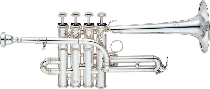 Yamaha Ytr-9835 Custom Series Bb / A Piccolo Trumpet Silver