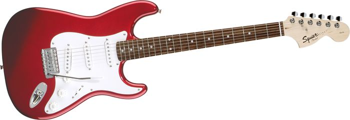 Squier Affinity Series Stratocaster Electric Guitar Metallic Red