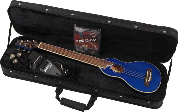 Washburn Rover Travel Guitar Trans Blue