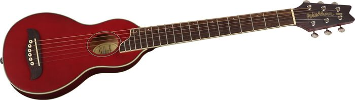 Washburn Rover Travel Guitar Trans Red