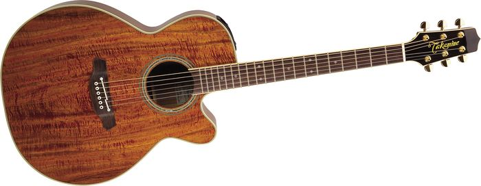 Takamine Ef508kc Nex All Koa Acoustic-Electric Guitar Natural