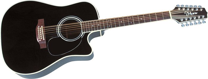 Takamine Ef-381C 12-String Acoustic-Electric Cutaway Guitar