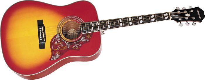 Epiphone Hummingbird Acoustic Guitar  Chrome Hardware