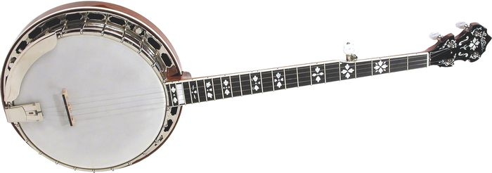 Gold Star GF-100HF Mahogany Hearts and Flowers 5-String Banjo