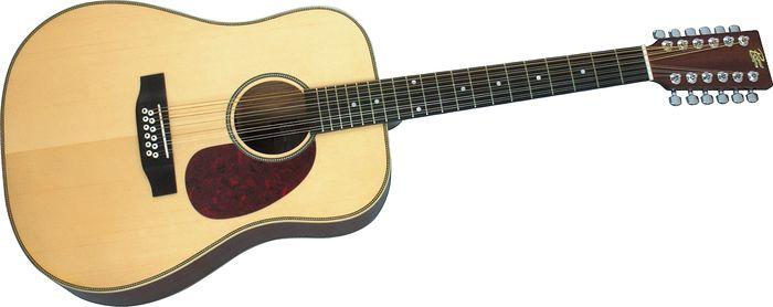 Rogue Herringbone 12-String Acoustic Guitar Natural
