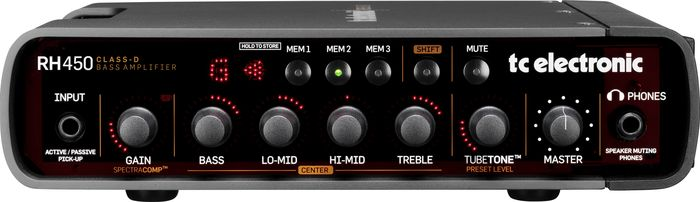 TC Electronic RH450 Bass Amp Head Front