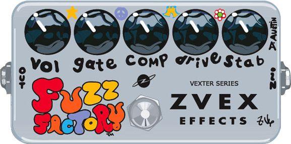 top fuzz pedals Zvex Vexter Fuzz Factory Guitar Effect Pedal