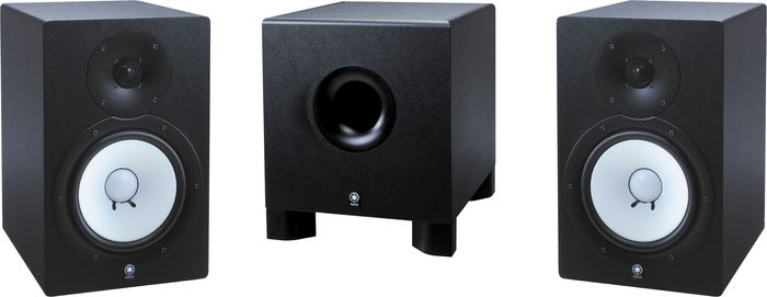 Yamaha Hs-80M/Hs-10W 2.1 Powered Monitor Package