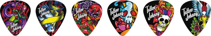 Clayton Tattoo Johnny Snakes and Daggers Guitar Picks - 1 Dozen Medium