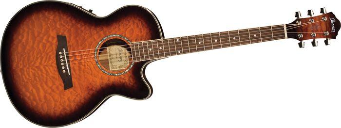 Ibanez Aeg Series Aeg25e Acoustic Electric Guitar Brown Sunburst