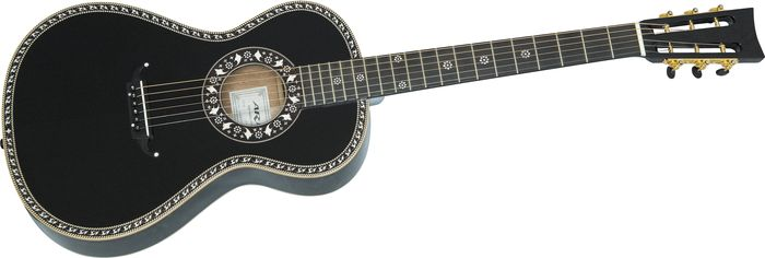 Aria 19Th Century Steel-String Acoustic Guitar Black