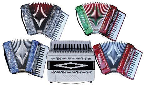 Used Sofiamari Sm-3232 32-Key 32-Bass Piano Accordion Red Pearl 886830660177