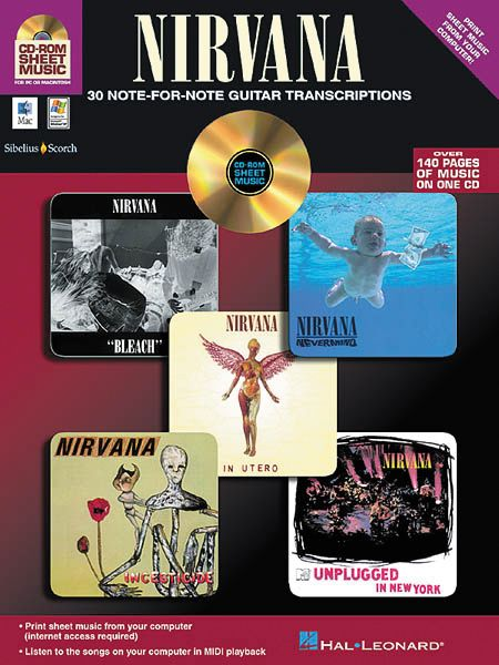 iSong Nirvana - 30 Note-for-Note Guitar Transcriptions (CD-ROM)