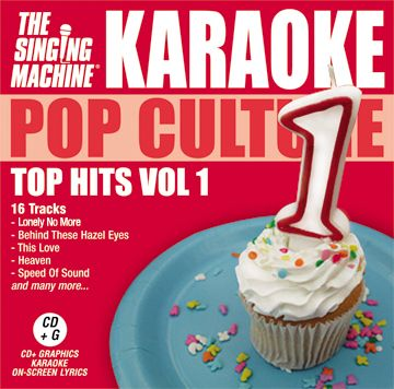 The Singing Machine Pop Culture Top Hits Volume 1 Karaoke CD+G