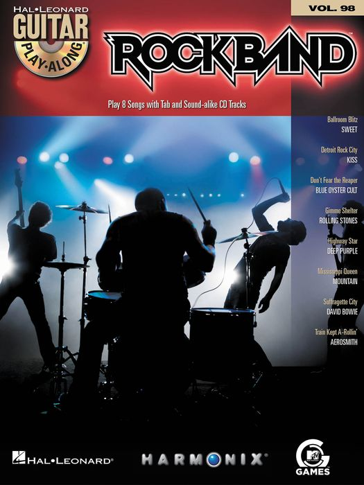 Rock Band Classic Rock Ed. Guitar  Vol 98 Book/Cd Set