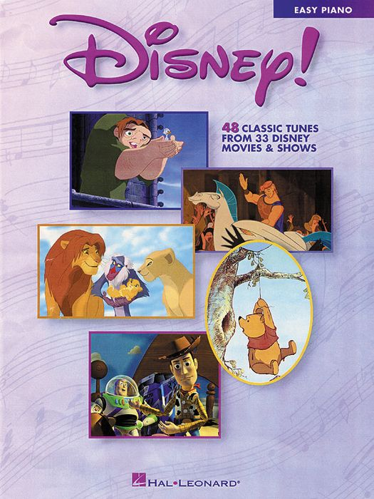 Disney! 48 Classic Tunes From 33 Disney Movie & Shows For Easy Piano