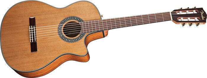 Fender Cn-240Sce Acoustic-Electric Classical Guitar Natural