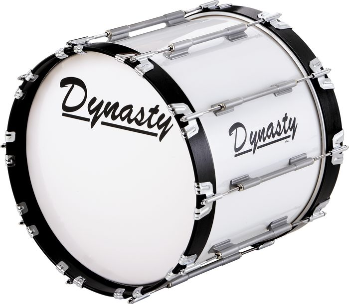 Dynasty Marching Bass Drums Black 16 inch