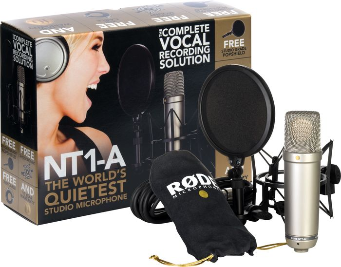 Rode Microphones Nt1-A Condenser Microphone Bundle
