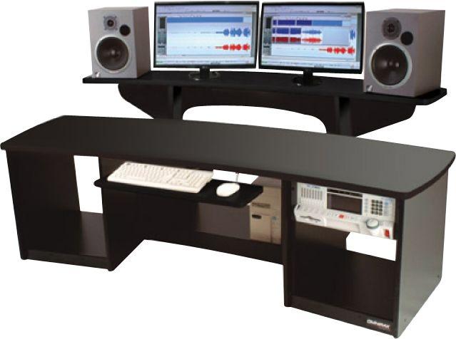 omnirax force 24 studio desk black musician 39 s friend. Black Bedroom Furniture Sets. Home Design Ideas