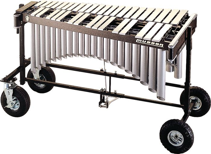 Musser Vibraphone - Pro-Vibe 3 Oct - Silver W/ All Terrain Cart M8055