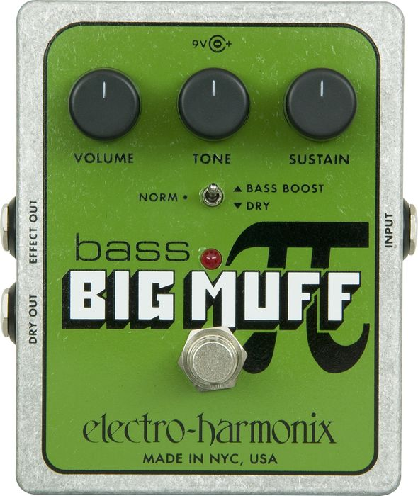 Electro-Harmonix Xo Bass Big Muff Pi Distortion Effects Pedal