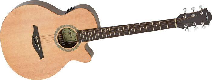 Hohner Essential Plus Mini Jumbo Acoustic-Electric Guitar Satin Natural