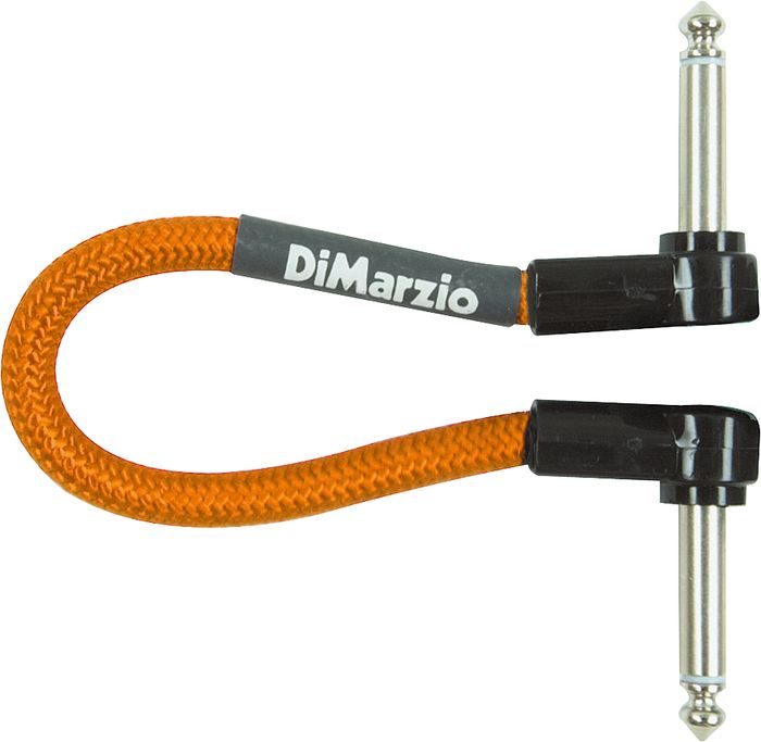 DiMarzio Neon Overbraid Jumper Cable Pedal Coupler Orange 6 inch