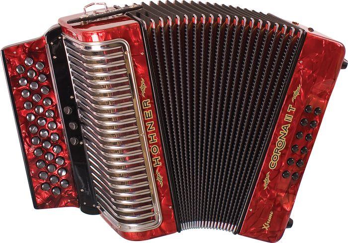 Hohner Corona Ii T Xtreme Gcf Accordion Pearl Red