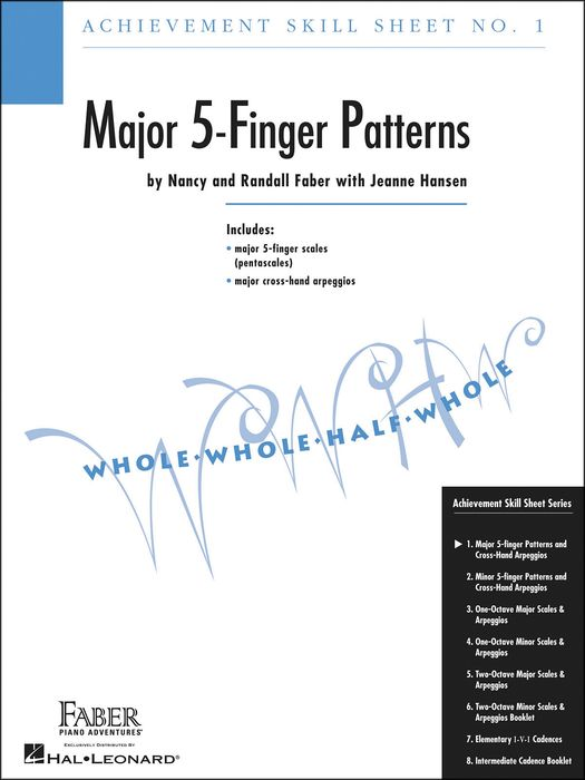 Faber Music Achievement Skill Sheet No.1: Major 5-Finger Patterns - Faber Piano