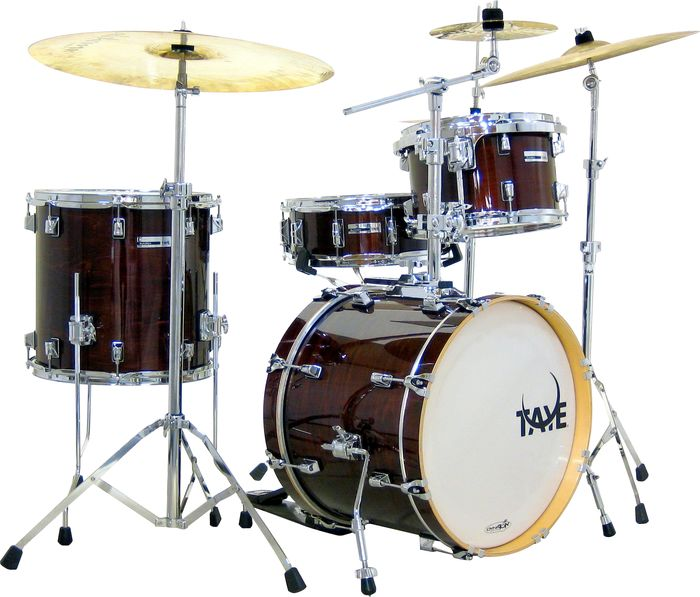 Taye Drums Studiomaple Sm418bp 4-Piece Shell Pack Classic Walnut