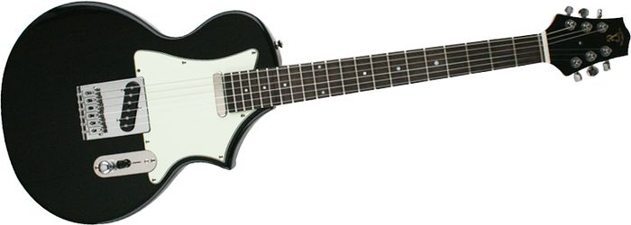 Voyage-Air Guitar Transaxe Telair Vet-1 Electric Guitar With Rosewood Fingerboard Black