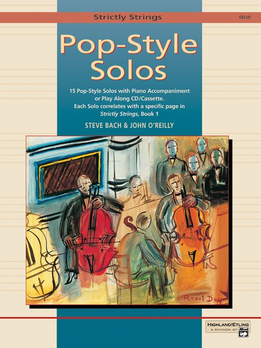 Alfred Strictly Strings Pop-Style Solos Cello Book Only