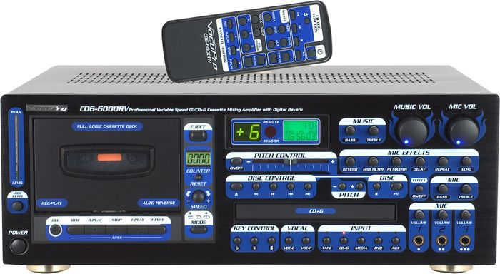 VocoPro CDG-6000RV 250 Watt Karaoke Amplifier / Player